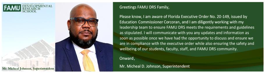 Superintendent's Message Regarding Executive Order