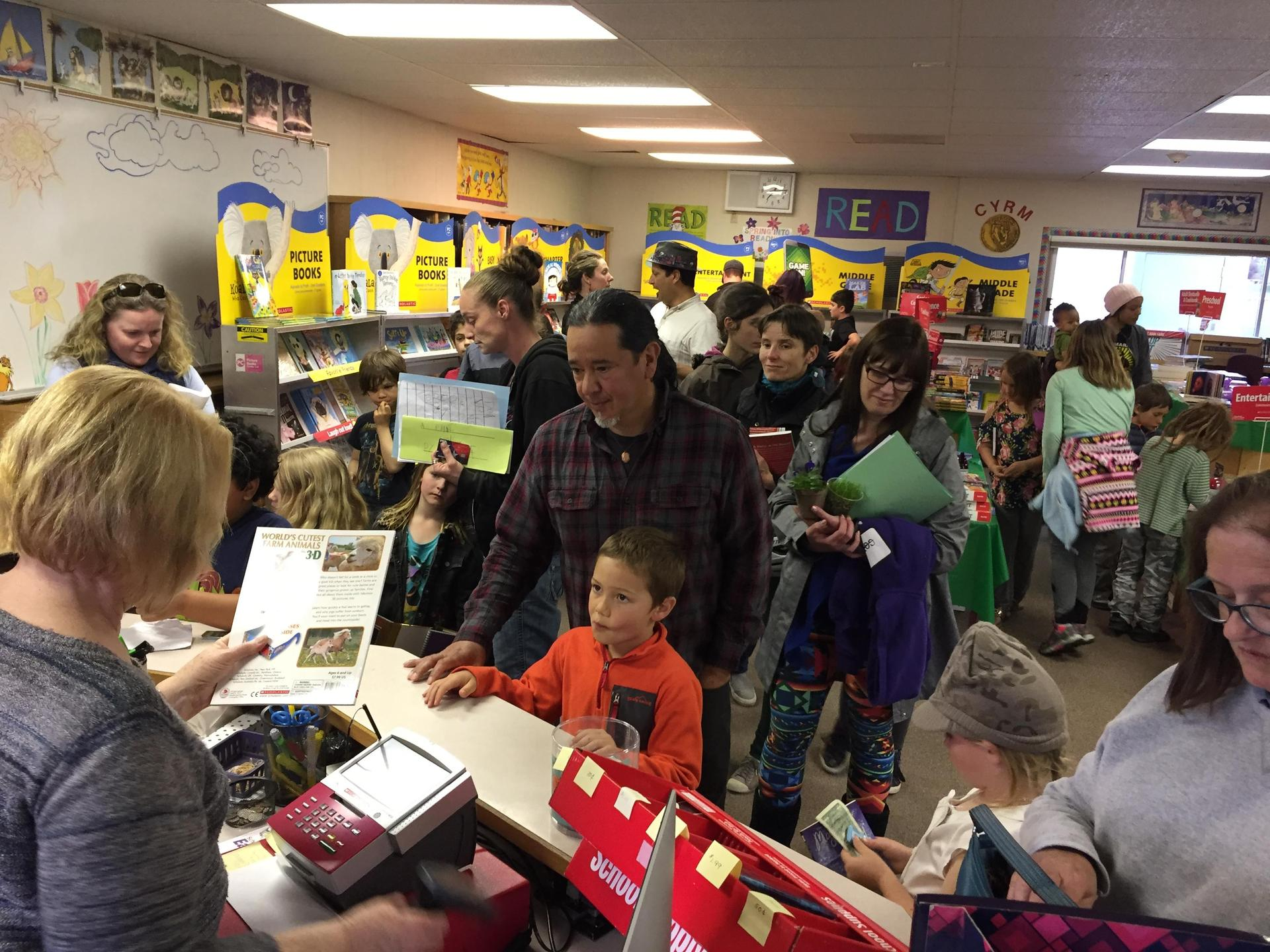 Families at Book Fair