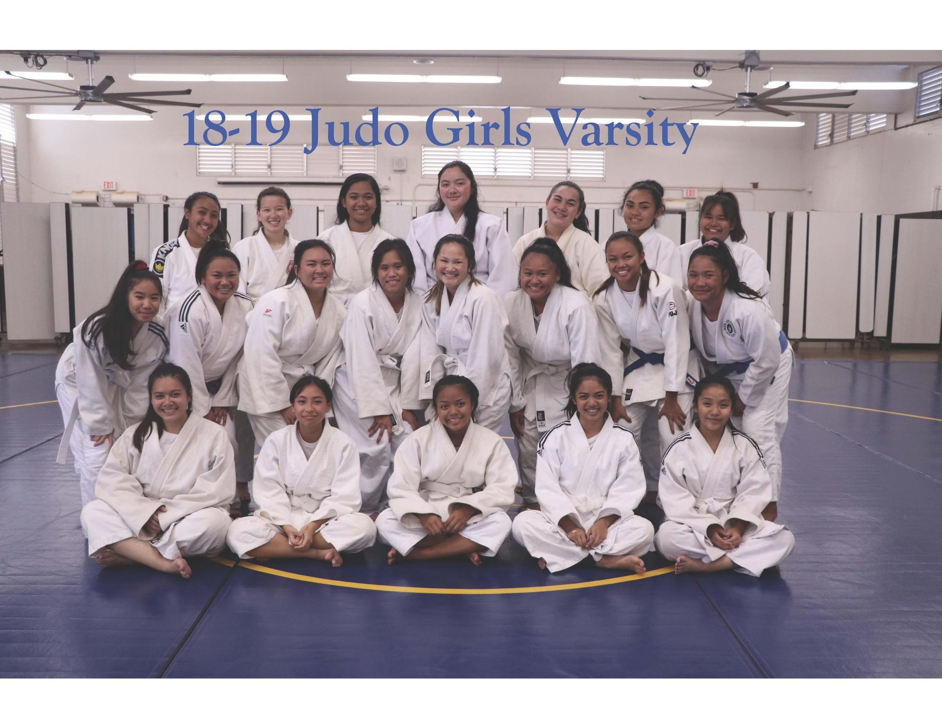 18-19 Judo Girls Varsity