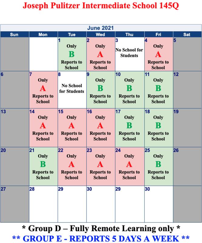 June's Calendar