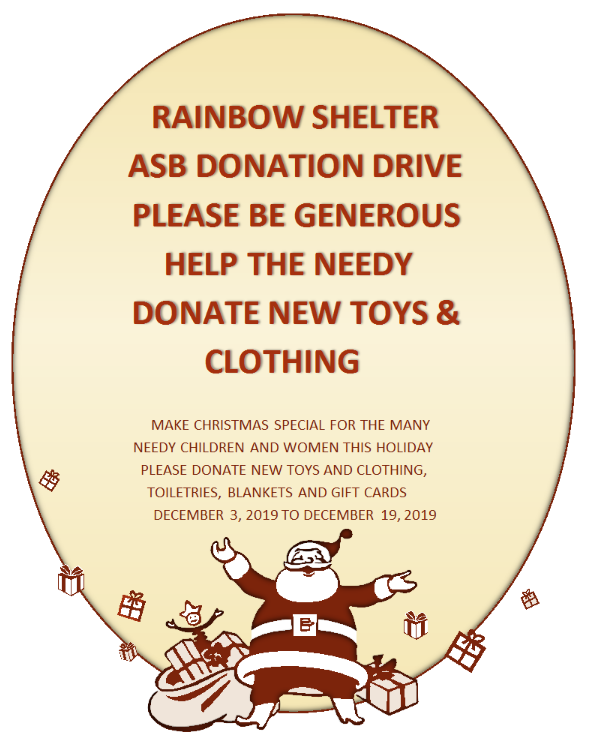 ASB Donation Drive to support Rainbow Shelter Thumbnail Image
