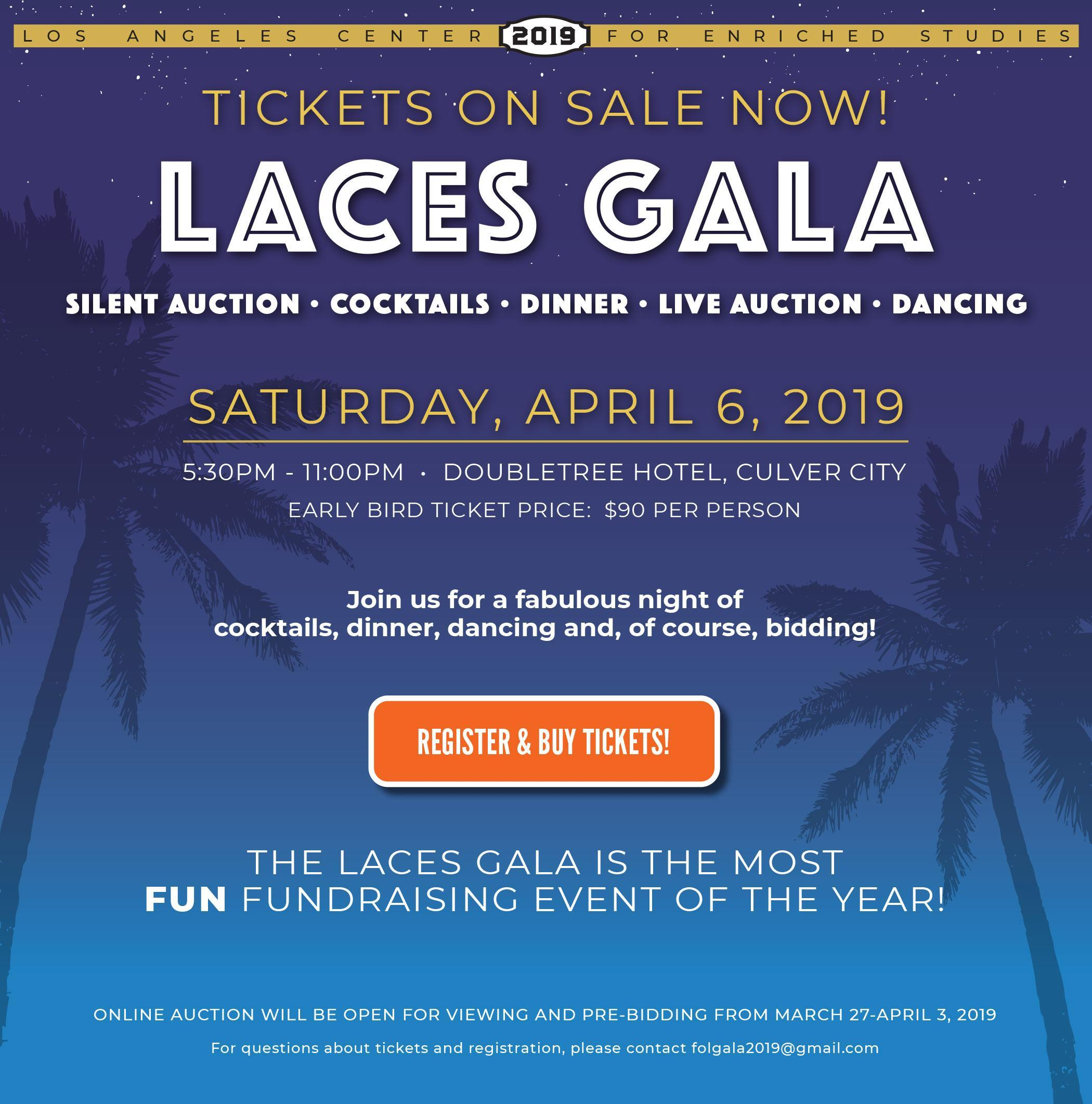 Spring Gala – Friends of LACES – Los Angeles Center For