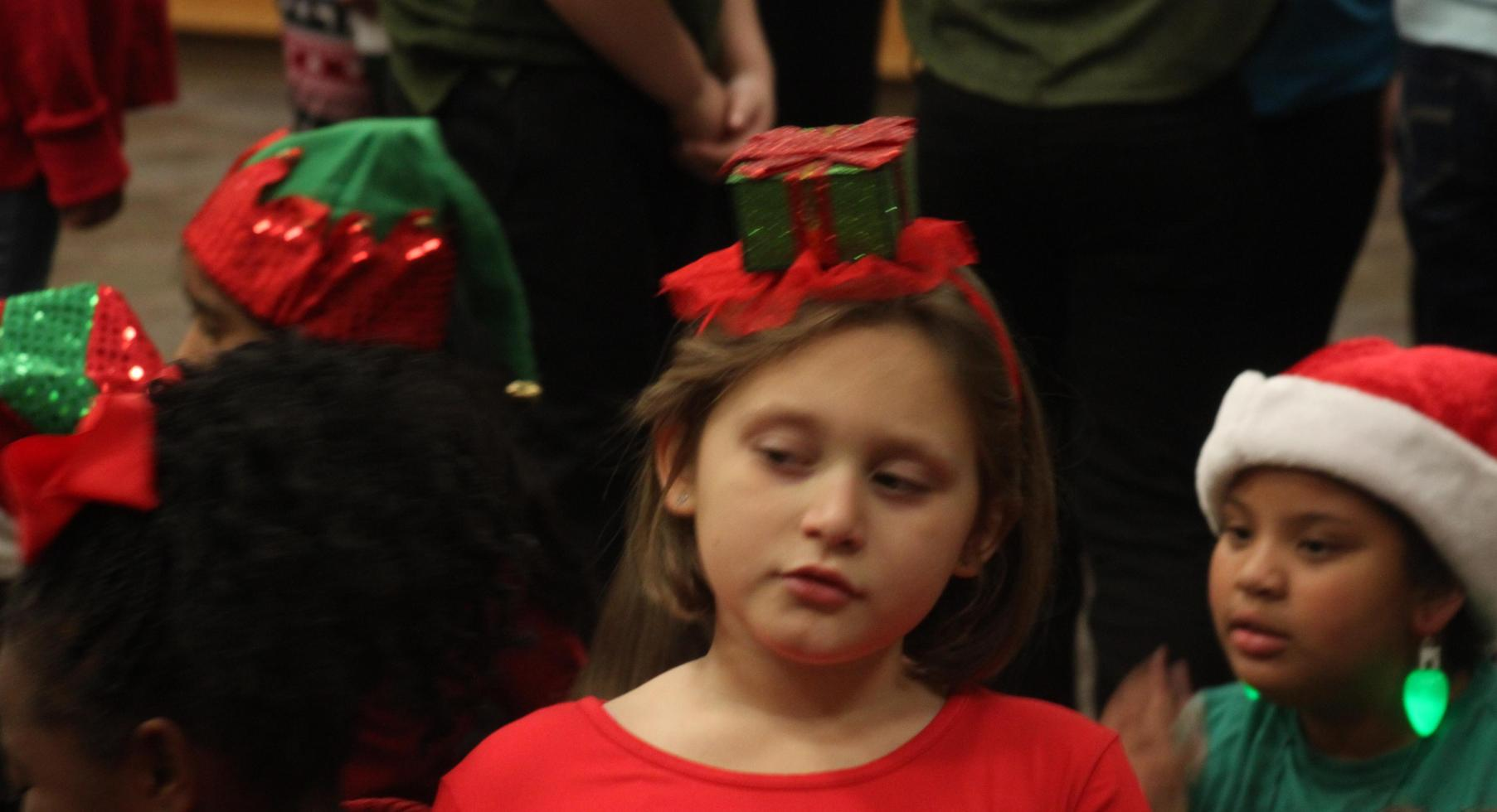 Waiting to sing in the Christmas Program.