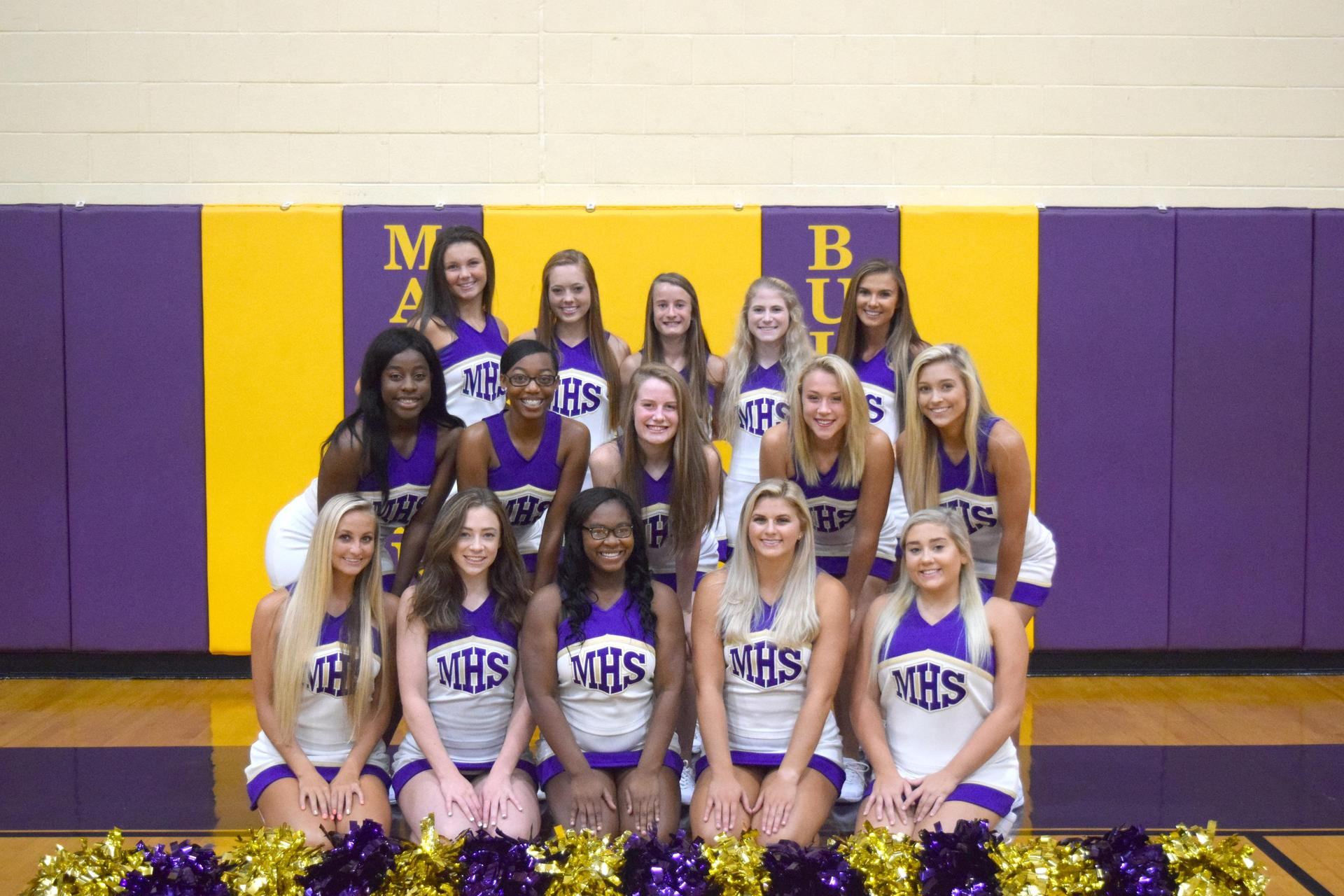 Marianna High School's Varsity Cheerleaders