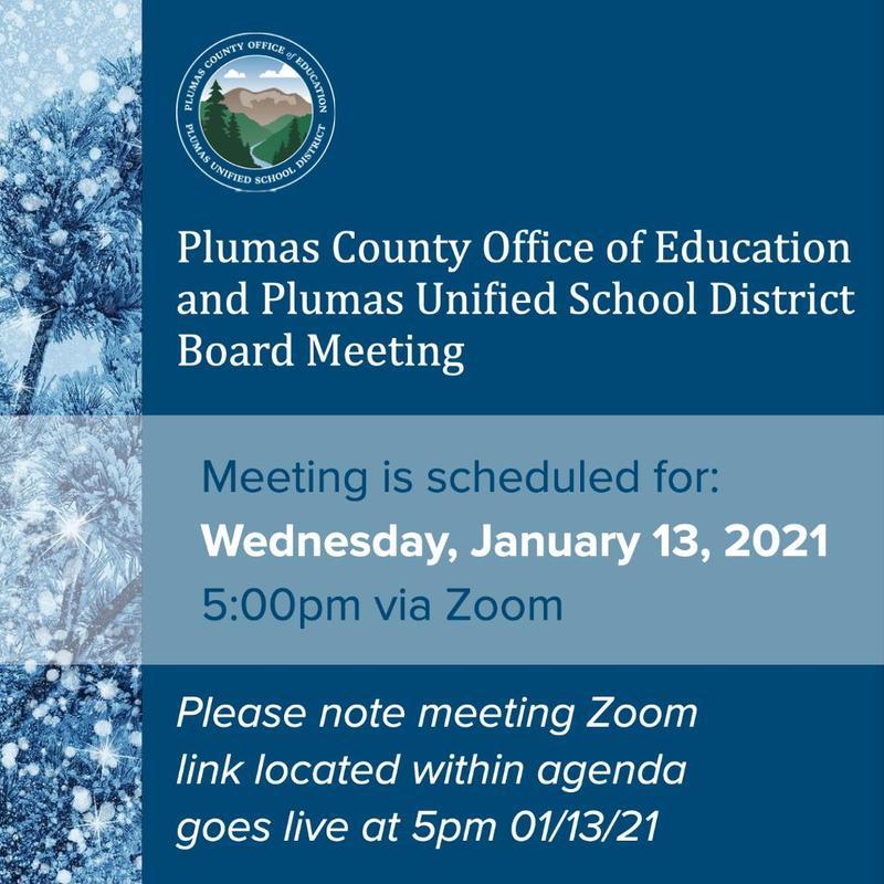 PUSD Board Meeting Agenda January 13 2021