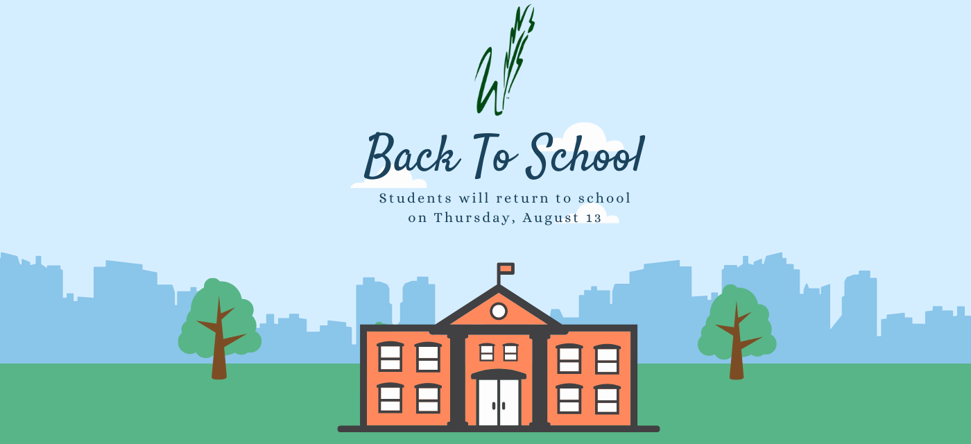 graphic describes back to school on August 13