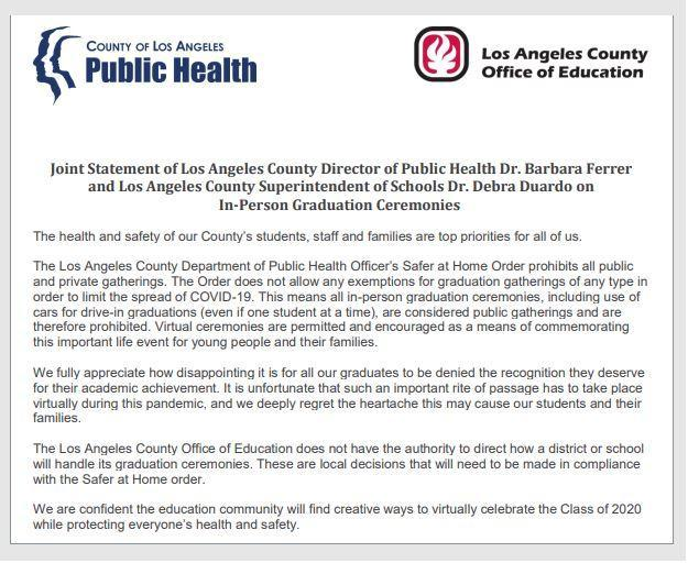 Los Angeles County Department of Education and Los Angeles County Department of Public Health