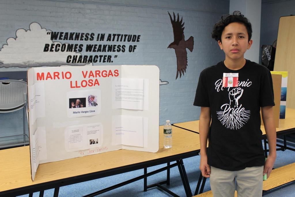 boy with mario vargas llosa research