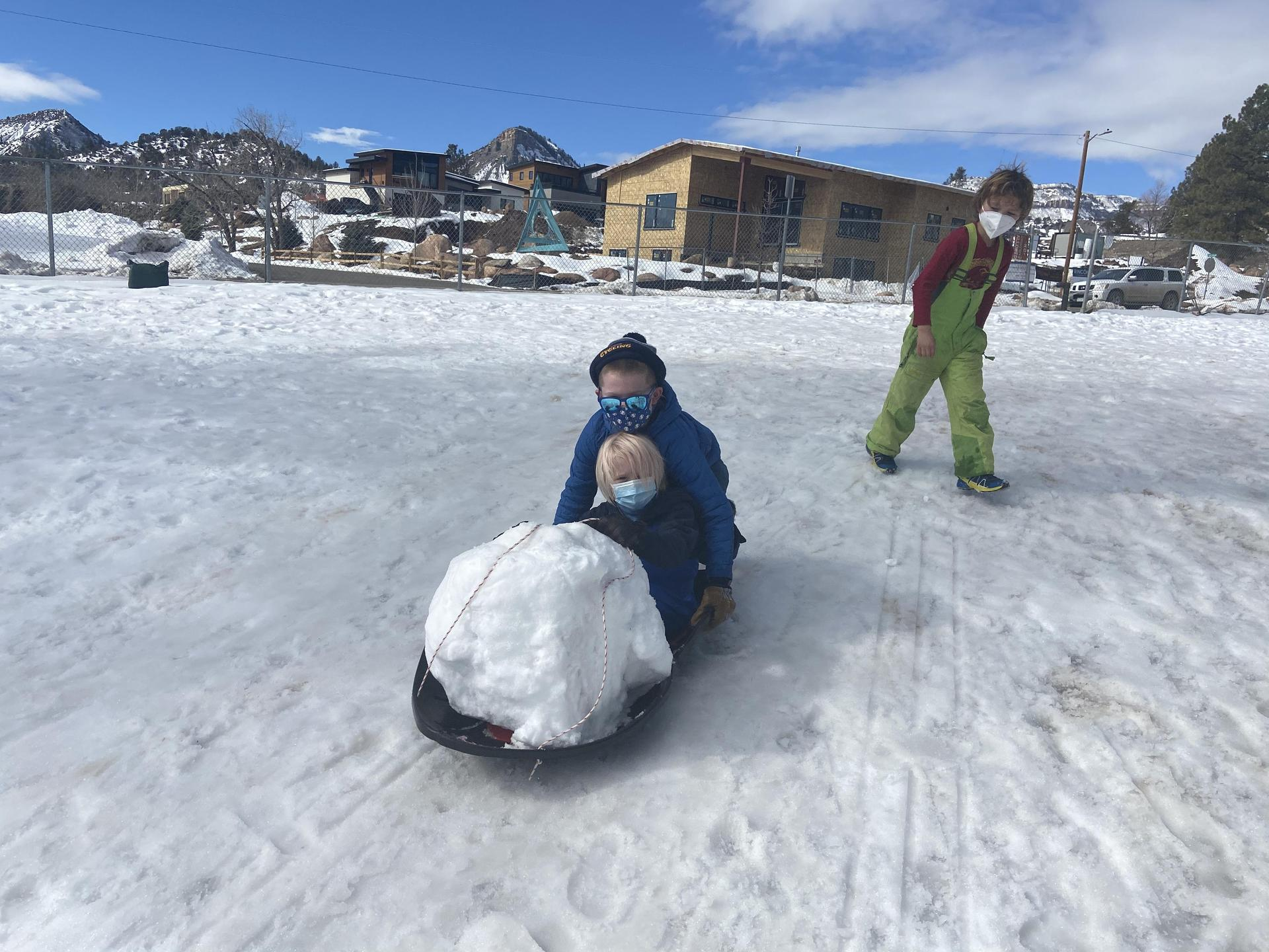 snow fun with a sled