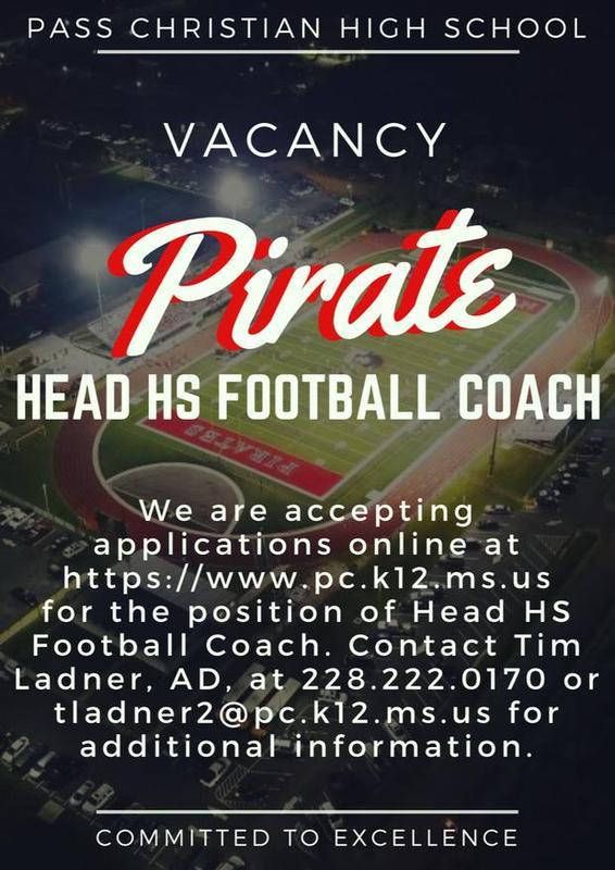 PC Football Head Coach Vacancy