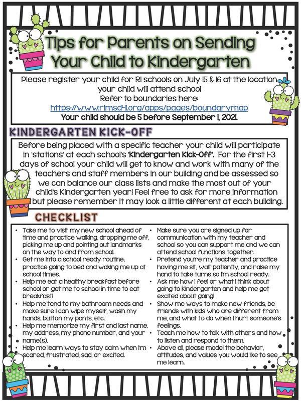 Planning for Kindergarten! Featured Photo
