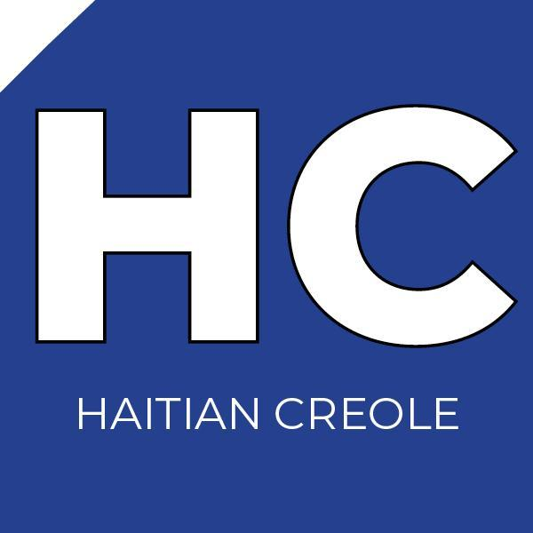 "A blue box with the letters ""HC"" inside"