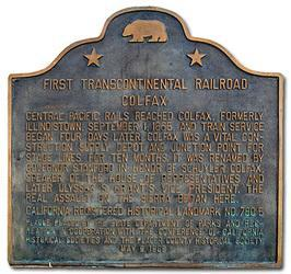 First Transcontinental Rail Road Plaque