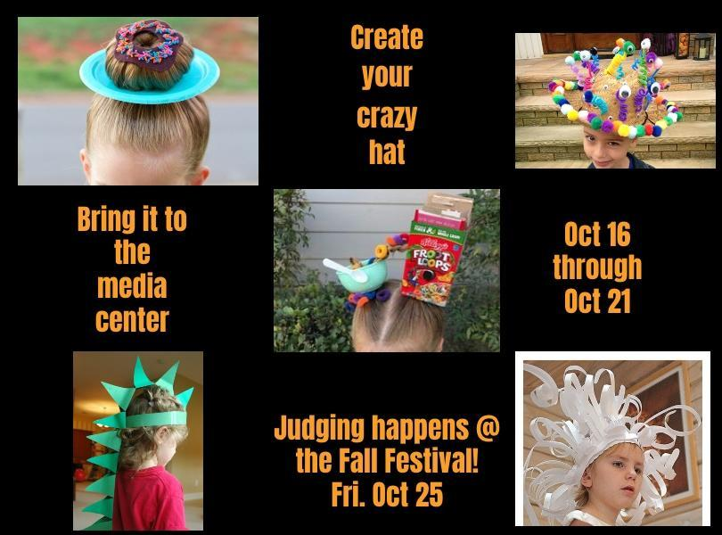 Image announcing Crazy Hat contest