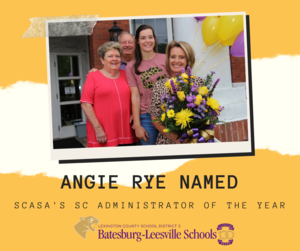 Angie Rye Named SCASA's South Carolina Administrator of the Year