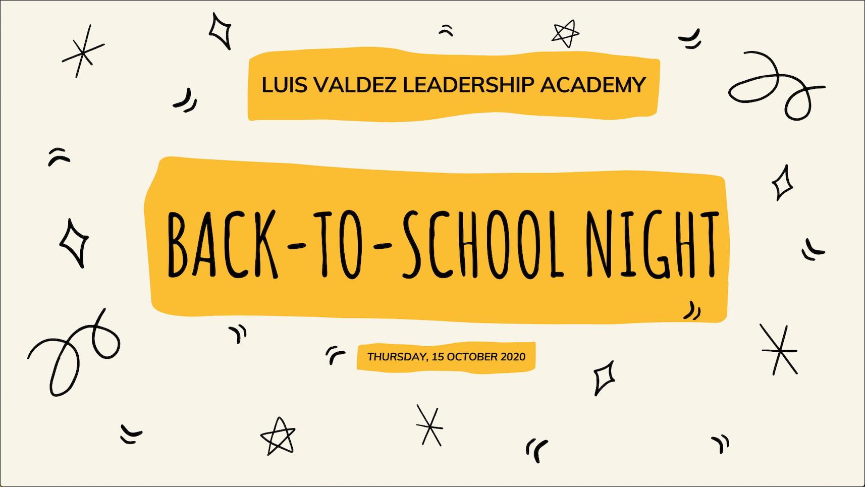 Back-To-School Night 2020! Image