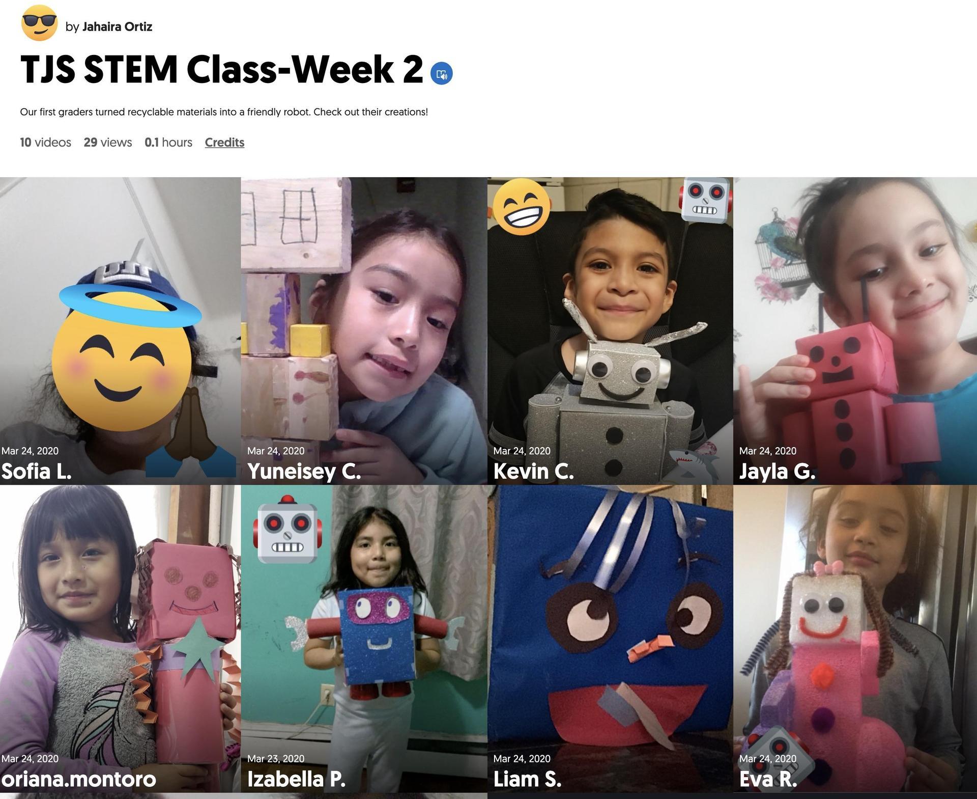 Mrs. Ortiz Week 2 STEM Flipgrid link