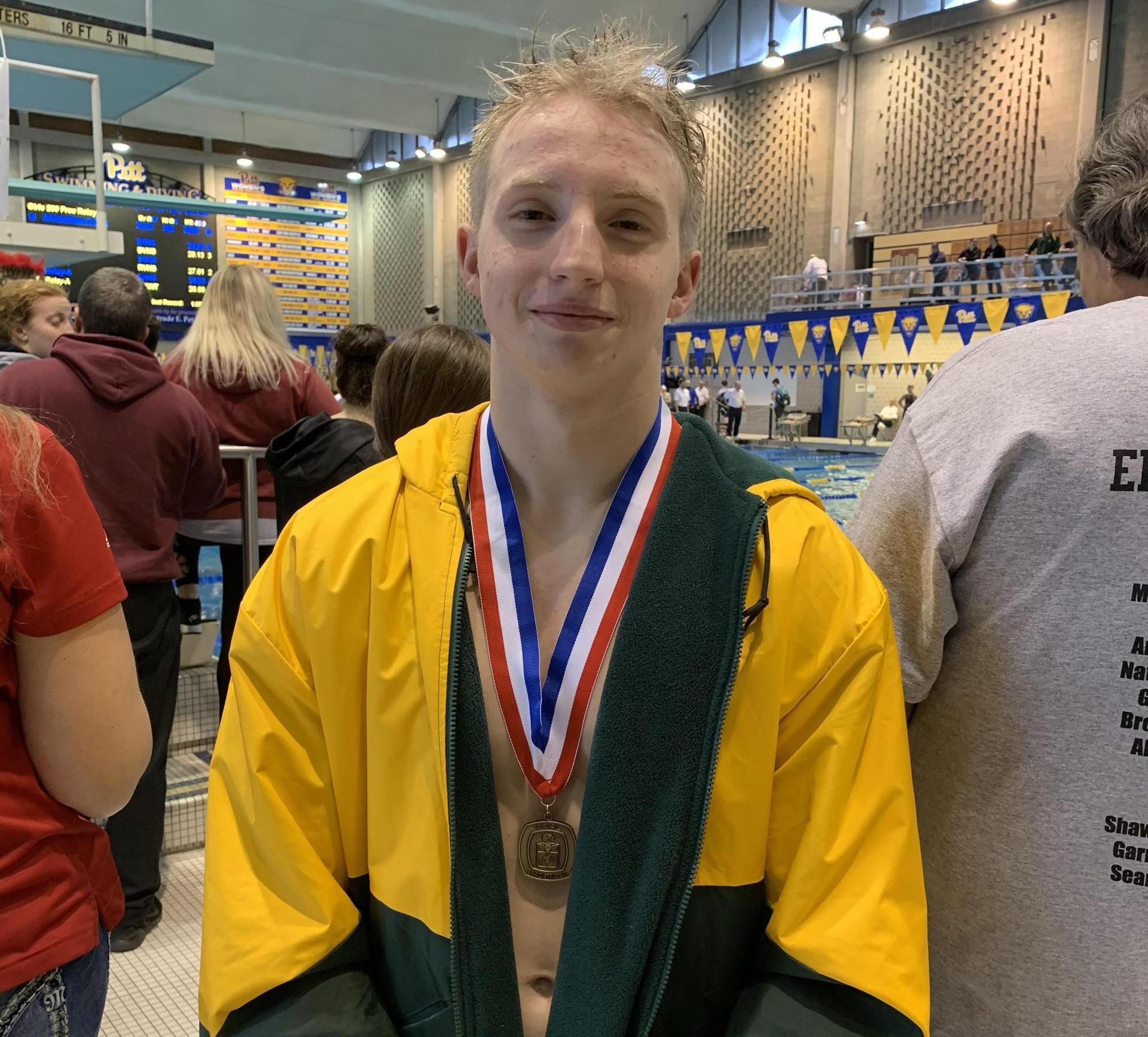swimming medalist