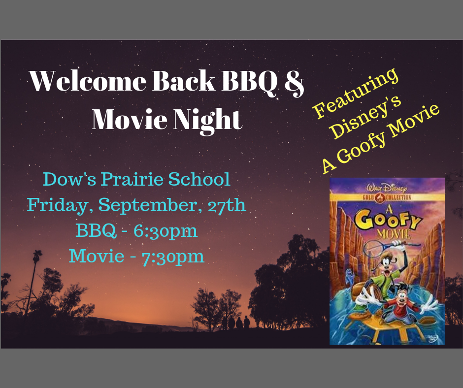 Welcome Back BBQ Flyer