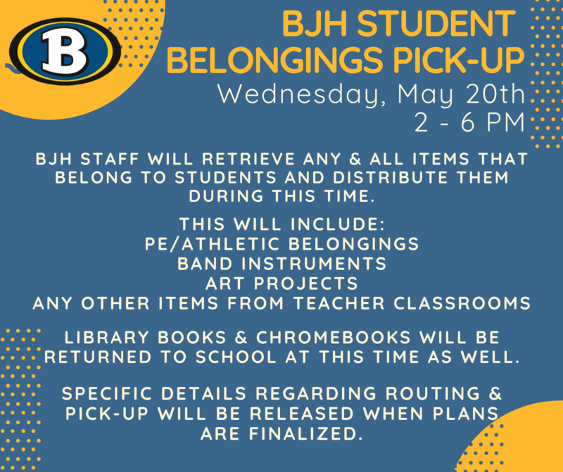 Student Belongings Pick-Up on May 20 Featured Photo