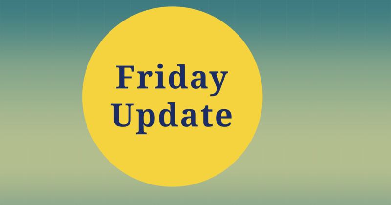 Friday Update 10-15-21 Featured Photo