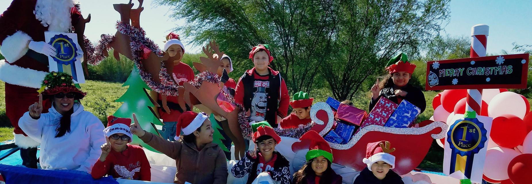 Waitz float at Alton Christmas Parade
