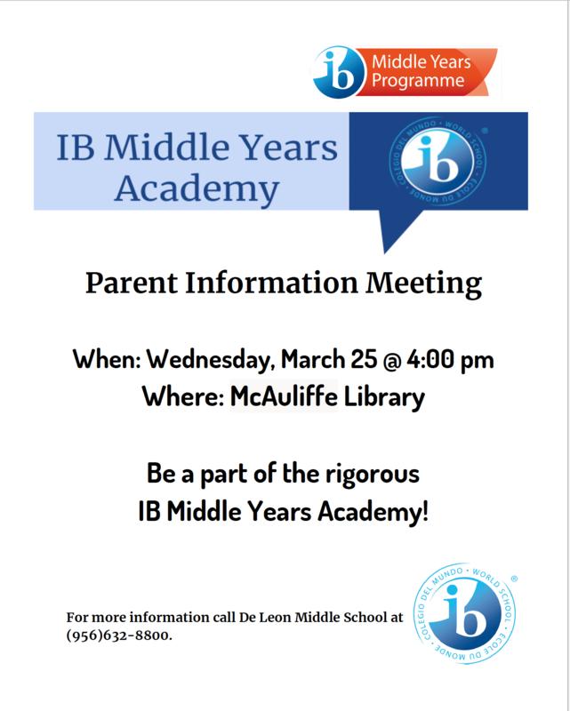 IB flyer