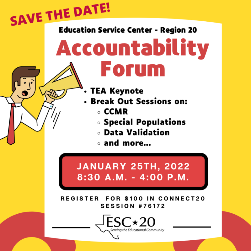 2021-2022 Accountability Forum, January 25, 2022, Session #76172, Register Now!