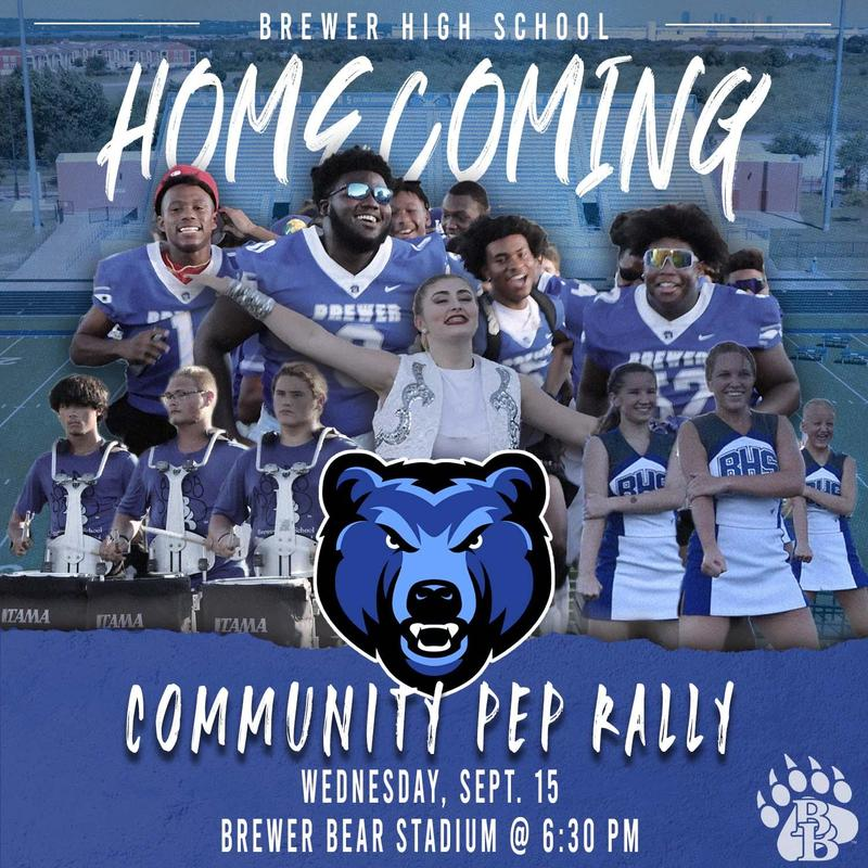 Homecoming Community Pep Rally on Sept. 15 at 6:30PM