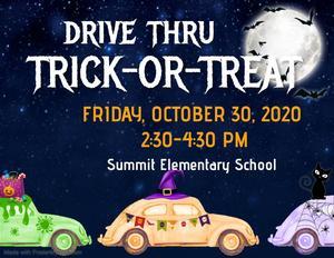 Summit Elementary Drive Thru Trick-Or-Treat 2020