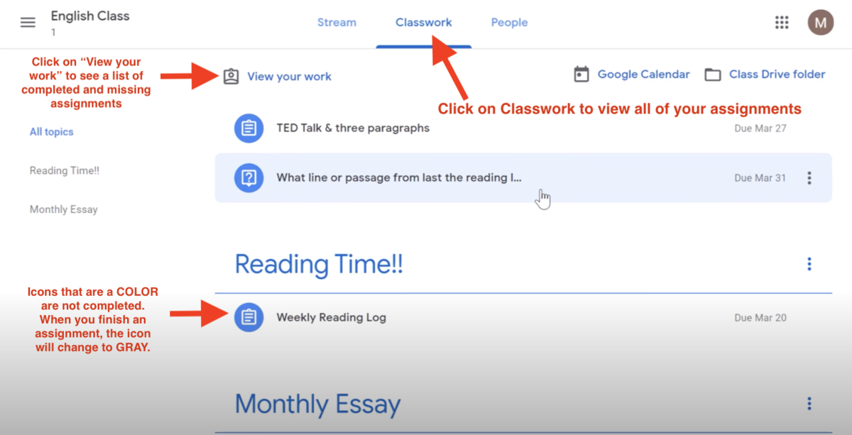 Google Classroom Overview Annotated