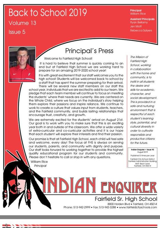 Back-to-School Edition of FHS Indian Enquirer Now Online Featured Photo