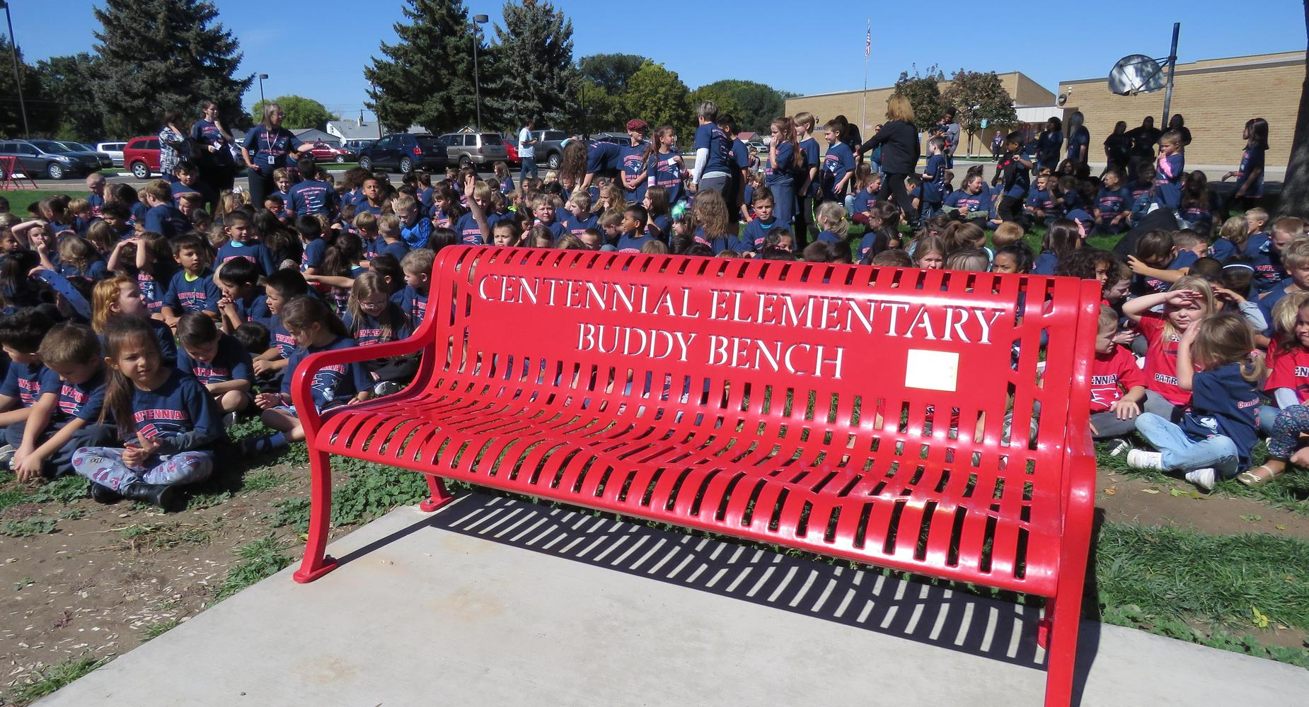 Centennial Elementary's New Buddy Bench