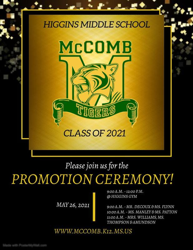 Higgins Middle School Promotional Ceremony 2021