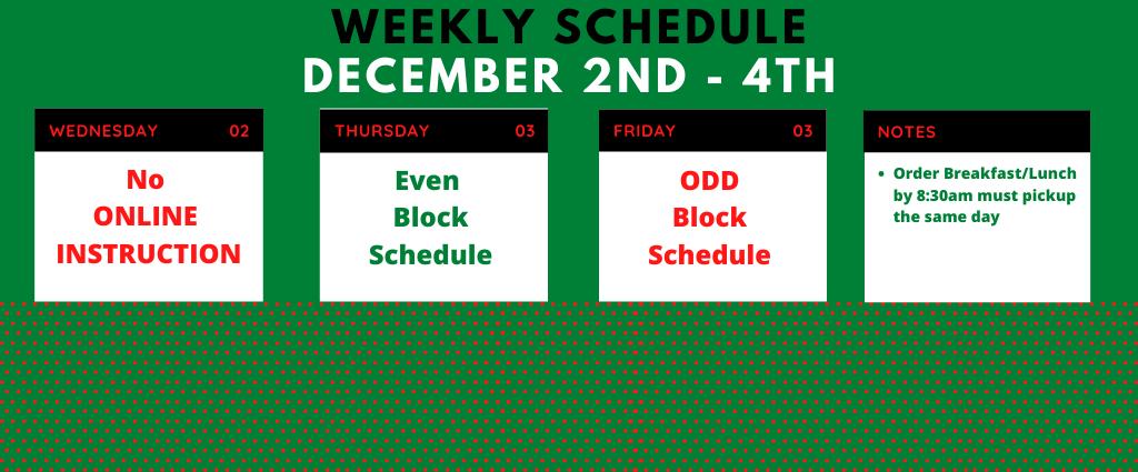 Weekly Schedule 12-1