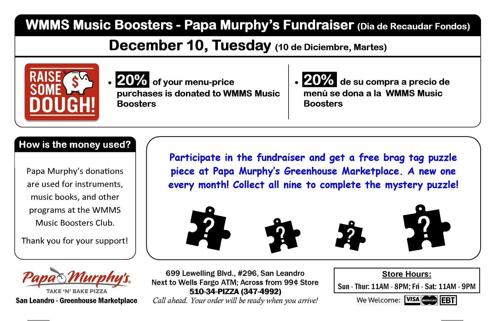 Papa Murphy Fundraiser