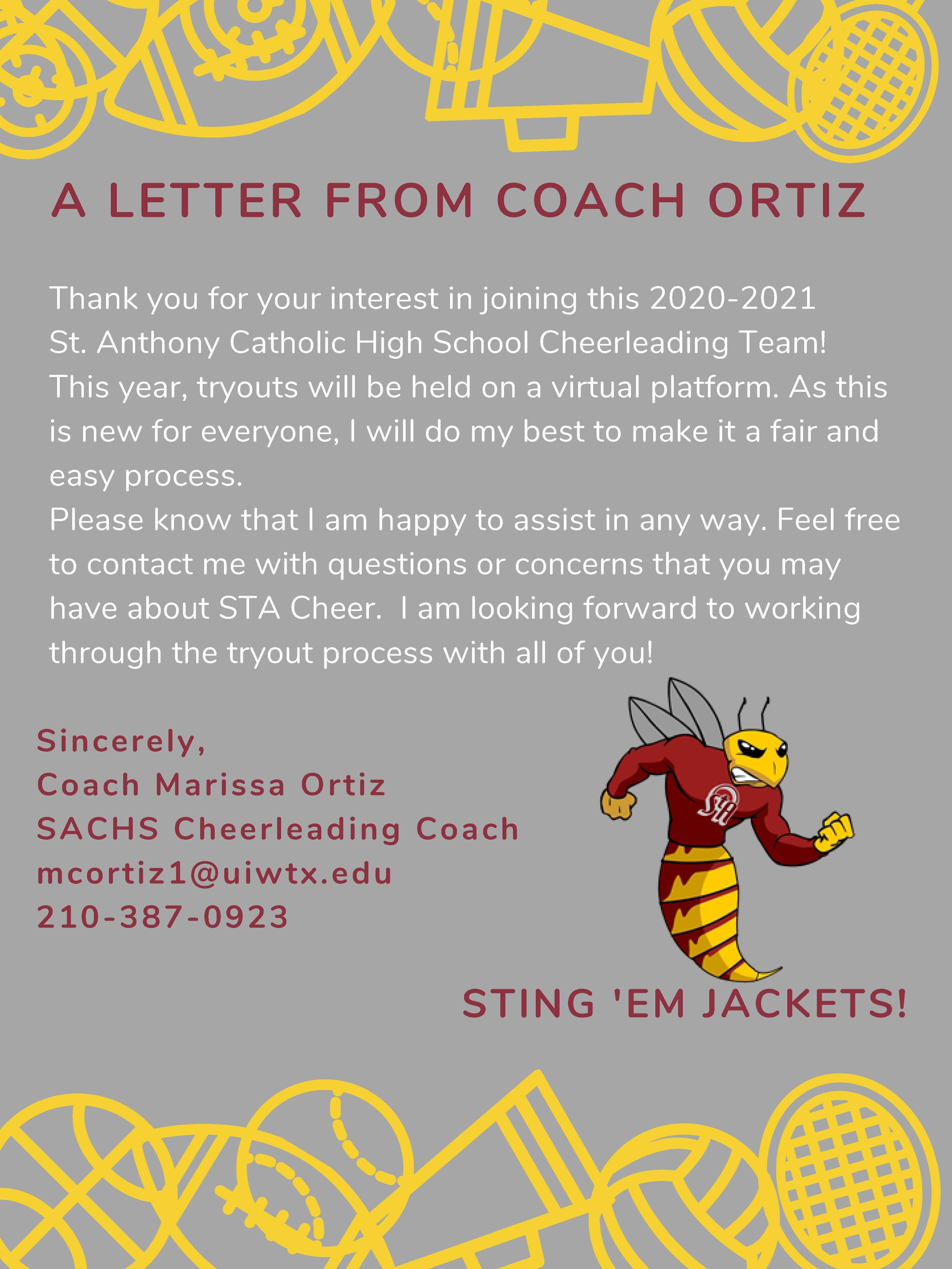 cheer letter