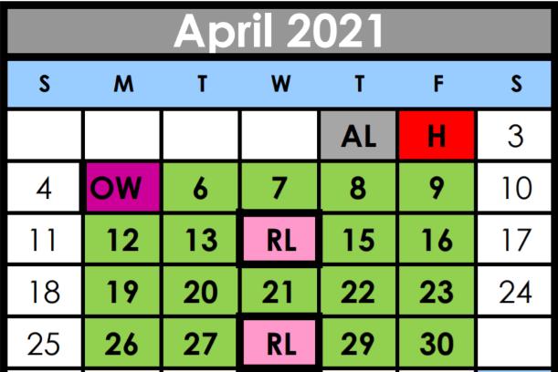 April Calendar Image
