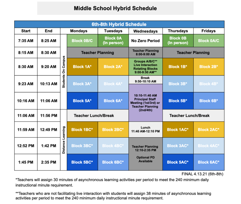 Return to School ~ Middle School Information CLICK HERE Featured Photo
