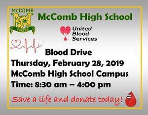 McComb High School host blood drive 2019