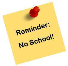 NO SCHOOL FRIDAY, APRIL 10TH (GOOD FRIDAY HOLIDAY) Featured Photo