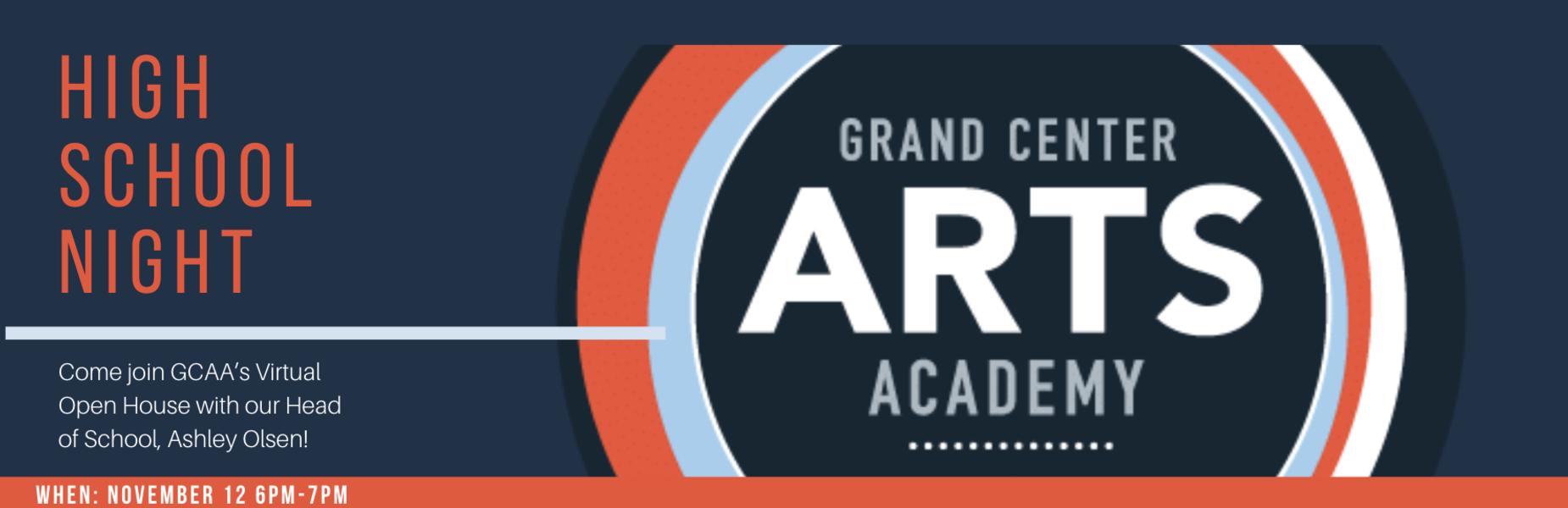 grand center arts academy virtual open house