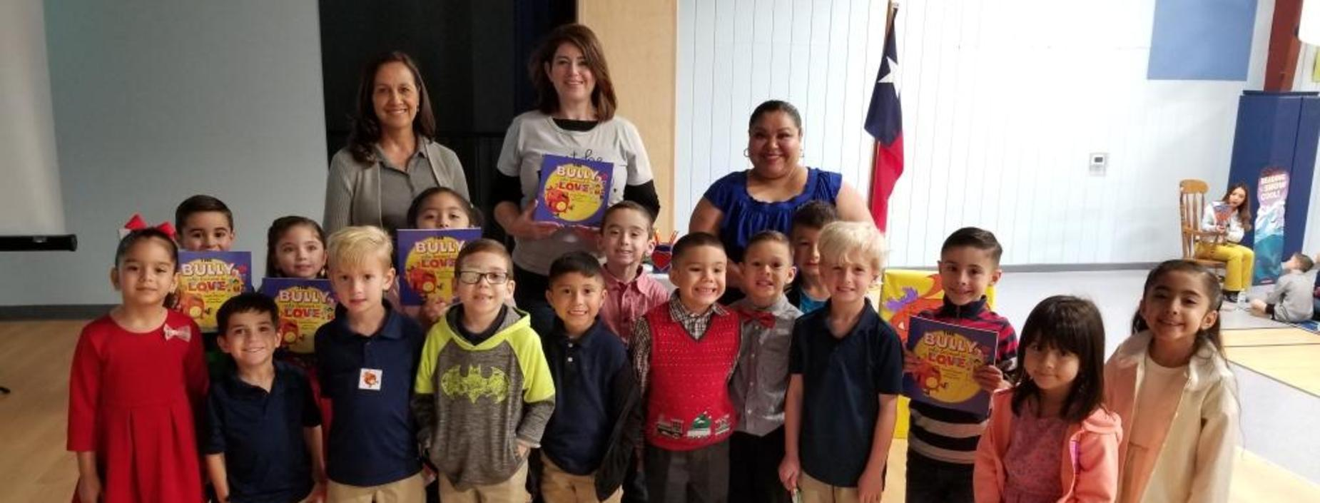 Author visit with students