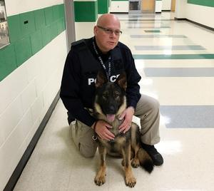 CMSPD Detective Tim Jolly and K9 Officer Nico