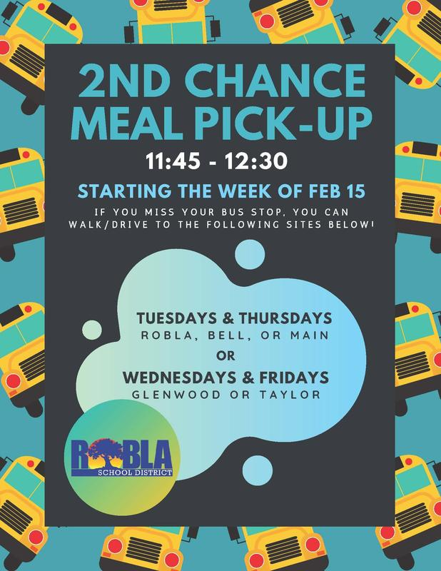 2nd Chance Meal Pick-up 11:45 - 12:30