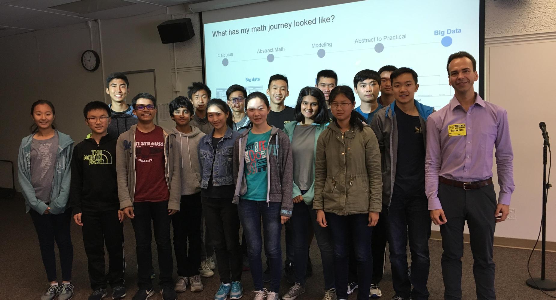 Student with STEM career speaker