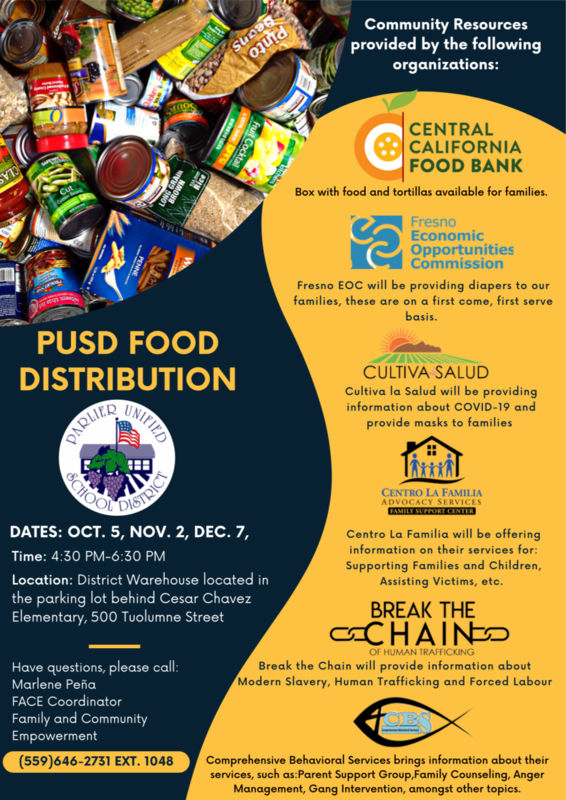 🥫 PUSD Food Distribution🥫 Featured Photo