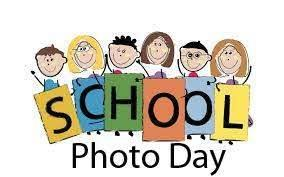 drawing of kids holding signs that spell out picture day