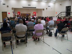 Parents attend D.A.R.E. graduation.