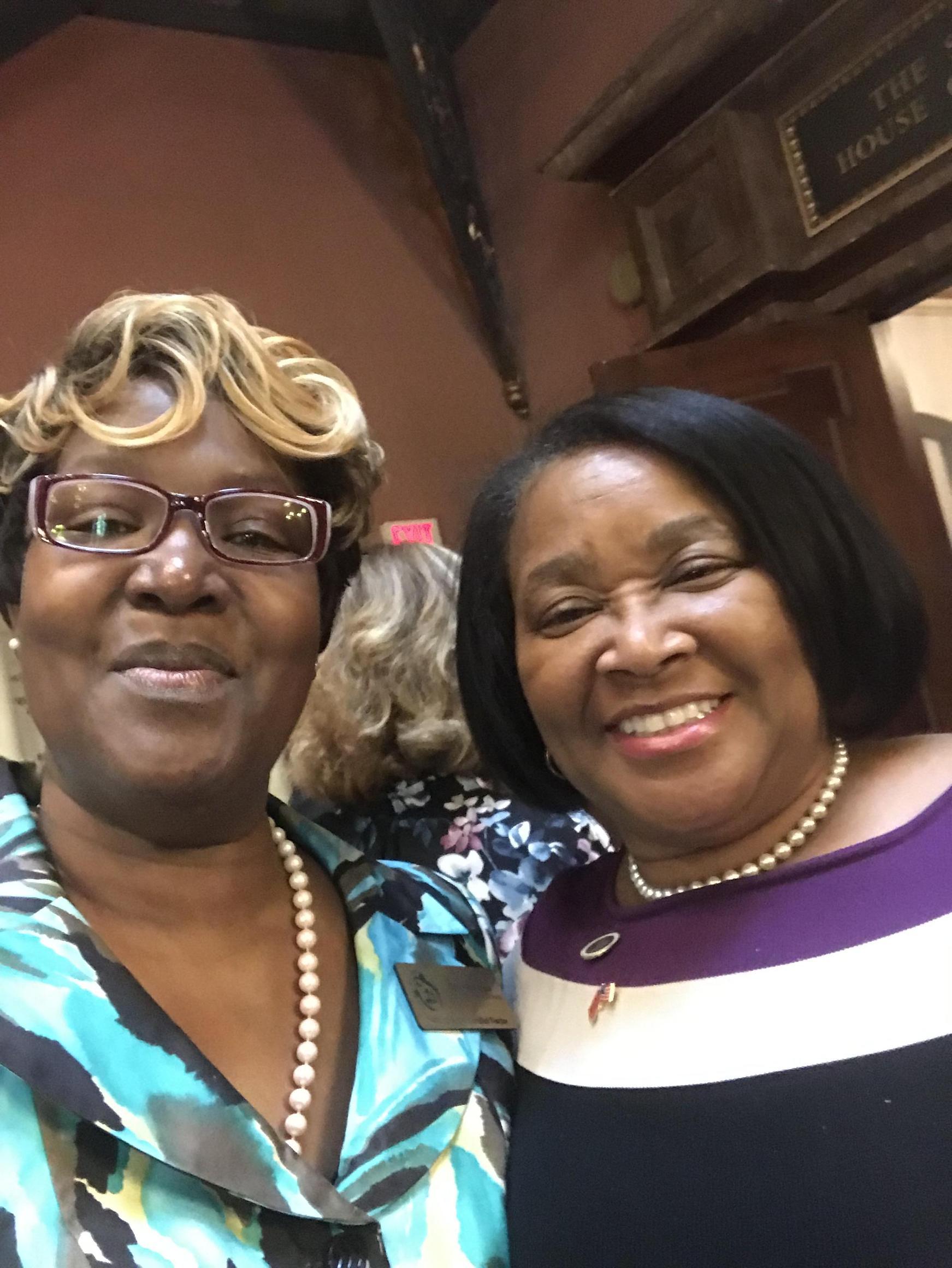 Mrs. Cooper with Representative Annie McDaniel